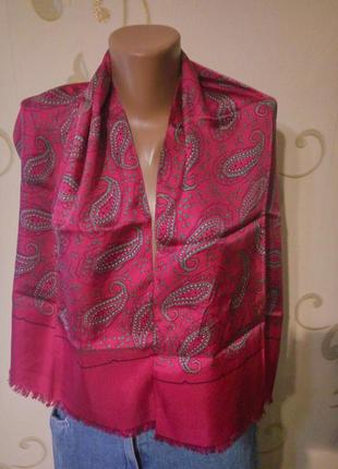 100% натуральный шелк . красивый шелковый шарфик шаль