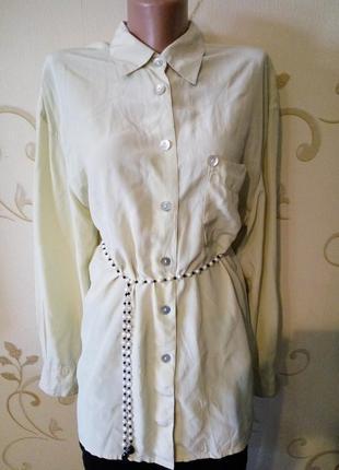 Catwalk . 100% шелк . роскошная шелковая блузка рубашка сорочк...