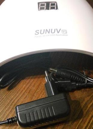 Светоидная uf led uv лед лампа для сушки гель лака 9 s 24 вт.