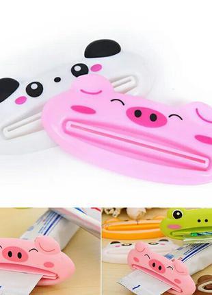 Диспенсер в форме животных для зубной пасты, 3 штуки