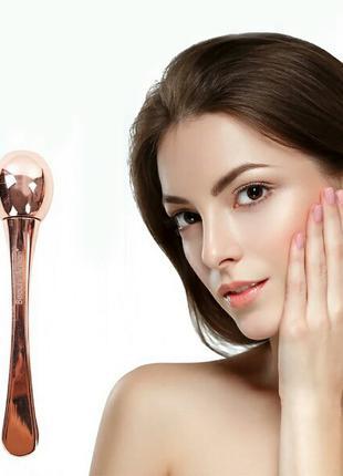 Массажер для глаз, массажёр для лица в форме ложки круглый розово