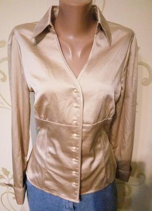 Красивенная атласная блузка .