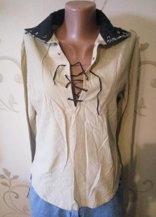 Стильная рубашка сорочка блузка . состояние новой . хлопок