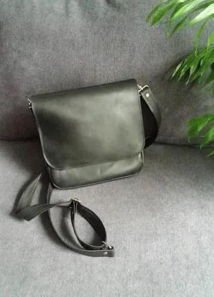 Новая кожаная сумка мужская
