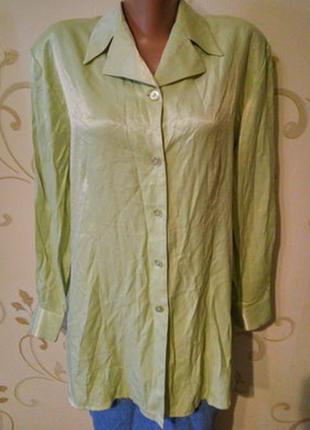 Etam 73% вискоза . атласная блуза блузка блузон рубашка сорочк...