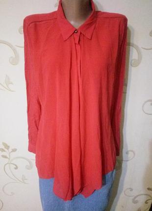 Дизайнерская блузка от anna scott . рубашка сорочка . вискоза
