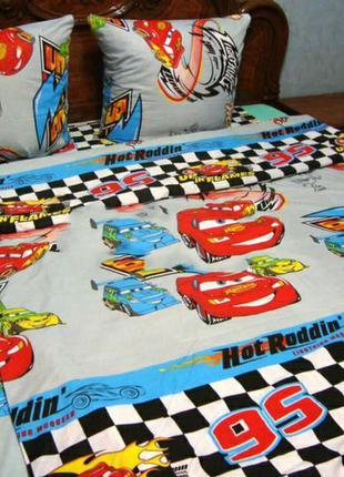 Комплект постельного белья тачки маквин гонка