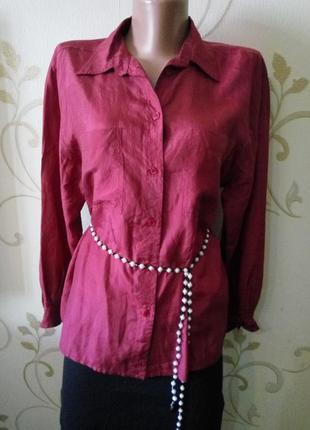 100% натуральный шелк . касивая шелковая блузка блуза сорочка ...