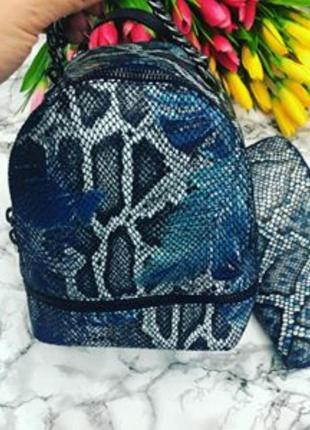 Женский кожаный рюкзак италия