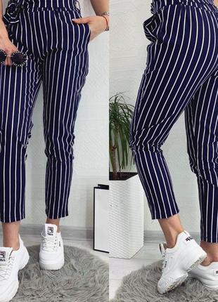 🔥новинка🔥укороченные брюки в полоску,супер качество,супер цена 👍