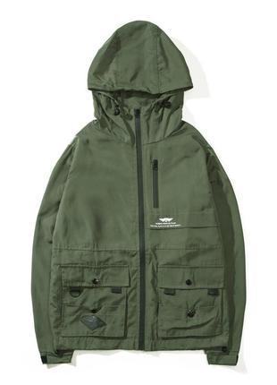 Шикарная куртка ветровка в цвете хаки (m-2xl)😍