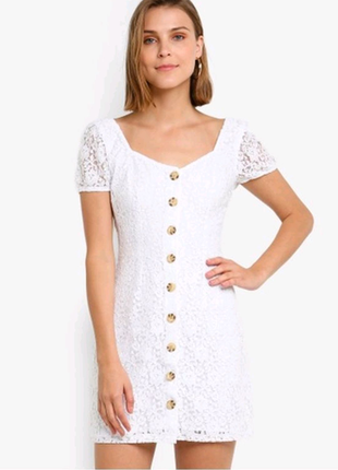 Белое платье Abercrombie and Fitch