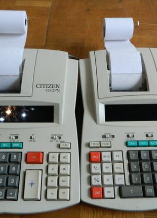 Калькулятор с печатью Citizen 355 DPN и Citizen 355 DPIII