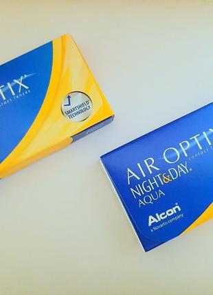 Контактные линзы Air Optix Night & Day AQUA (+3.50, +3.00)