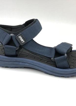 Босоножки сандалии подростковые restime mwl19222 чёрные синие ...