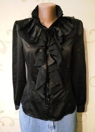 Шикарная атласная блузка . шелк атлас . размер l