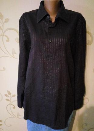 Классная рубашка сорочка zara . хлопок . большой размер .