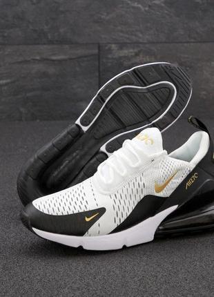 Мужские кроссовки nike air max 270 черные  белые серые весна о...