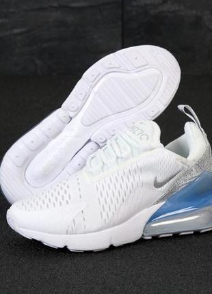 Женские кроссовки nike air max 270 silver белые голубые весна ...