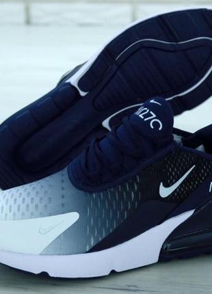 Мужские кроссовки nike air max 270 синие белые весна осень лет...