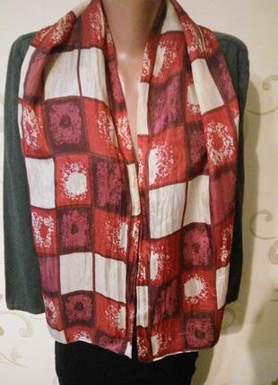 100% натуральный шелк . красивый шелковый шарфик шарф шаль .