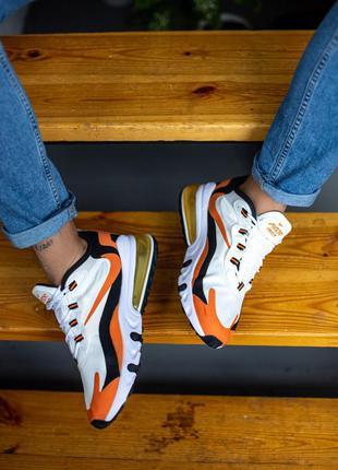 Nike air max white orange