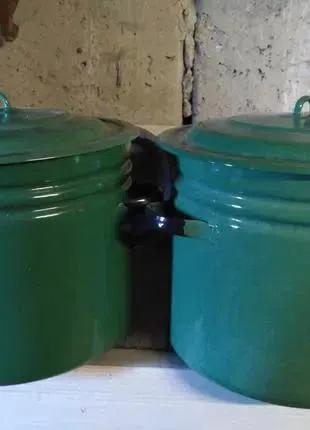 Кастрюля эмалированная 40 литров с крышкой