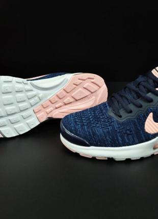 Кроссовки женские  синие с розовым nike air presto