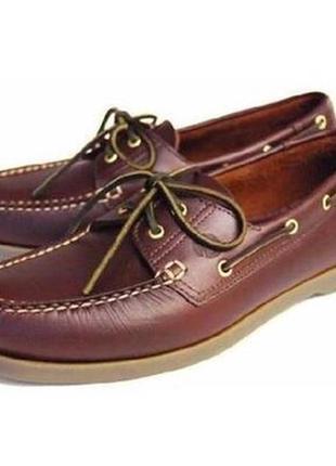 Кожаные туфли мокасины musto performance