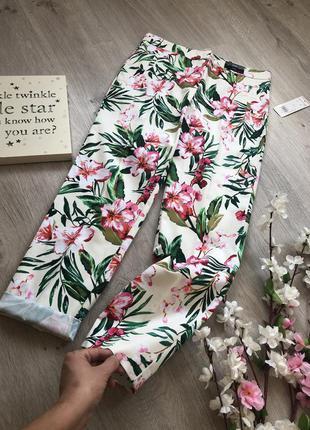Классные, яркие, женские летние джинсы, брюки летние,