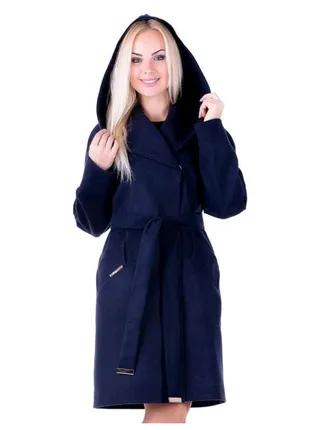 Новое! Кашемировое пальто евро длина Angel 44,46,48 р синее