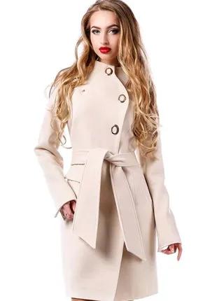 Новое! Кашемировое пальто MARGO  44-50р CИНЕЕ