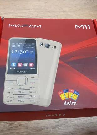 Mafam M11 мобильный телефон на 4 сим карты 4 sim новый servo