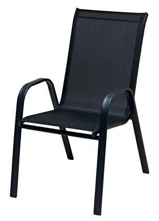 Б/у стул LEKNES сталь текстилен черный