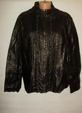 Распродажа!красивая куртка с золотистым напылением/кожзам/16-1...