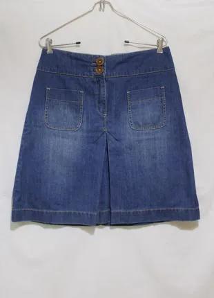 Юбка трапеция джинсовая *boden* 48-50р