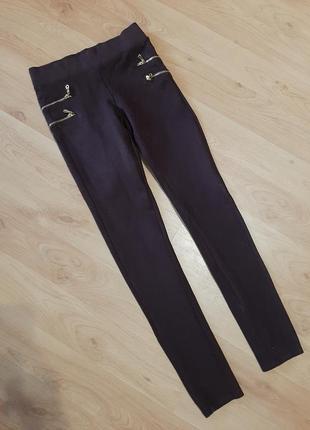 Лосины-брюки с завышенной талией