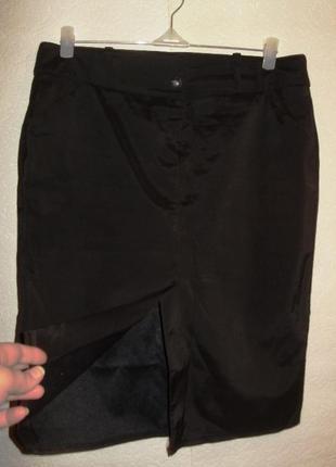 Стильная юбка с разрезом спереди/xl/48-50 размера