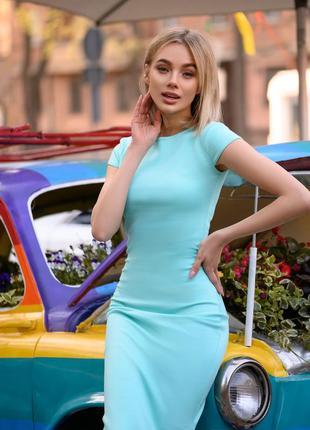 Платье женское летнее футляр облегающее большие размеры