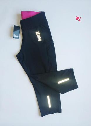 Капри crivit спортивные,лосины укороченные, одежда для фитнеса