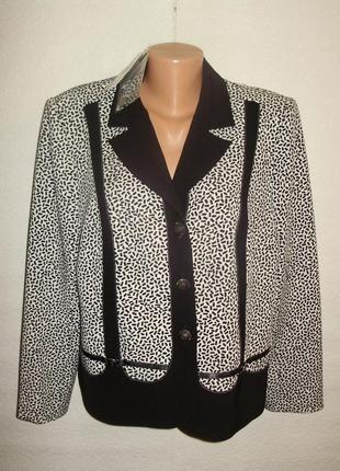 Новый с биркой женский пиджак в принт/56 размера белоруссия