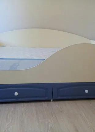 Кровать детская/ подростковая. Ваниль.