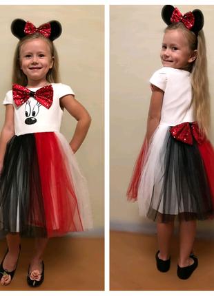 Классное прикольное нарядное и праздничное платье Микки Маус