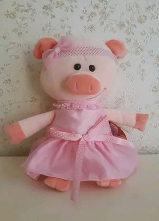 Мягкая игрушка свинка Жизель