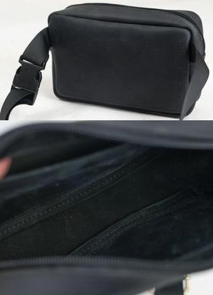Кожаная мужская женская бананка сумка на пояс из натуральной к...