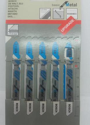 Пилочки для лобзика BOSCH Т118 А  5 штук