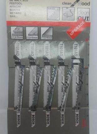 Пилочки для лобзика BOSCH Т101АО 5 штук