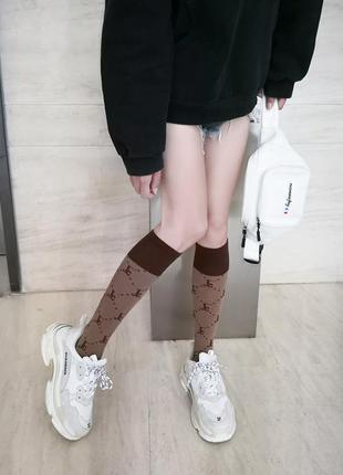 7-2 довгі гольфи шкарпетки длинные гольфы носки taobao
