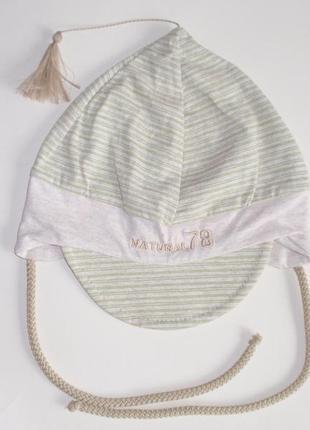 Хлопковая шапочки шапка на мылышей для мальчика р. 46. европа