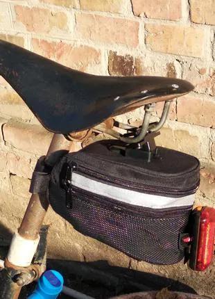 Подседельная велосумка, сумка вело под седло бардачек